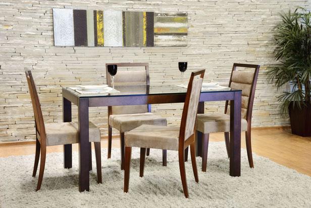 Sala de Jantar, 4 Cadeiras, Lyptus, Ville