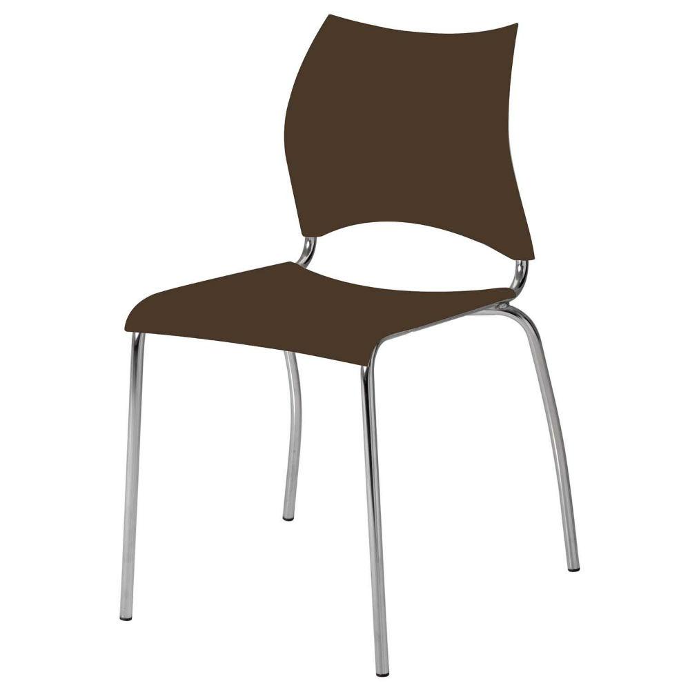 Cadeira de Jantar, Cromada, Flex