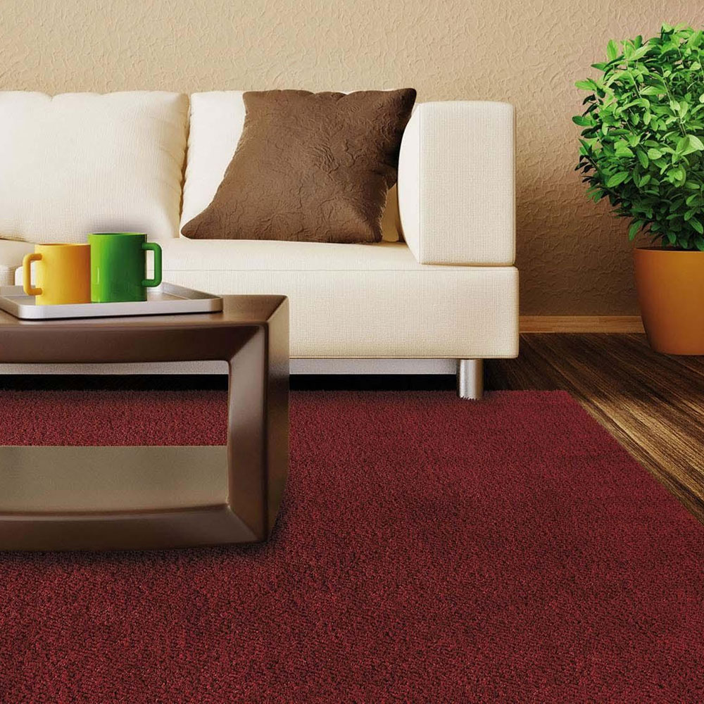 Tapete Cor Vinho Retangular 2m x 2,50m Silk