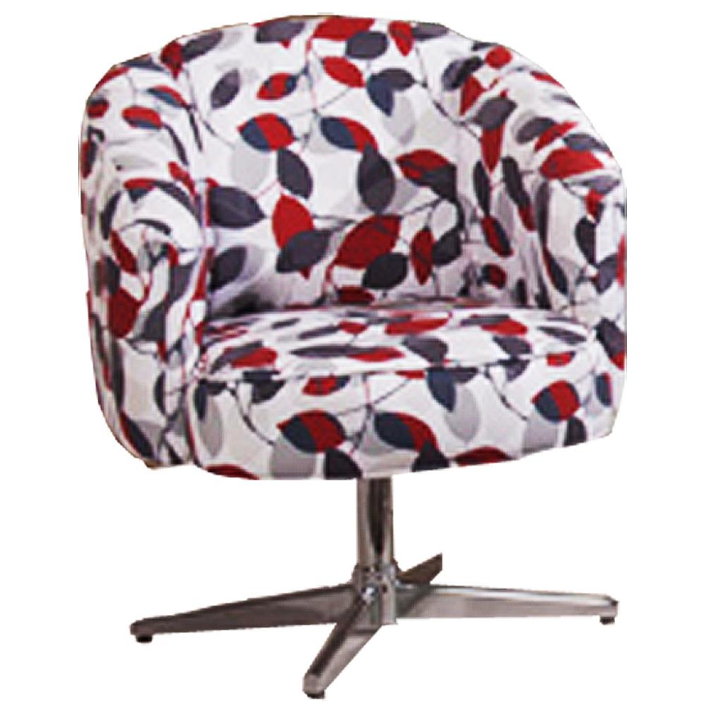 Cadeira Decorativa Giratória, Pés em alumínio,Berna