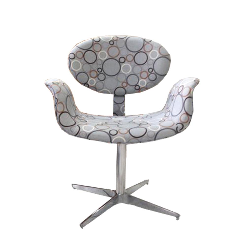 Cadeira Giratória Decorativa, Cinza, Joy