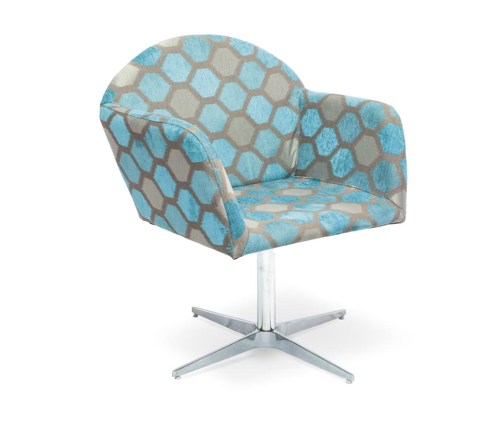 Cadeira Decorativa Giratória, Estampa Geométrica, Summer II