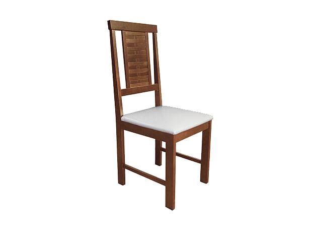 Cadeira Sala de Jantar, Assento Korino Branco, Imbuia Acetinado, Nicole