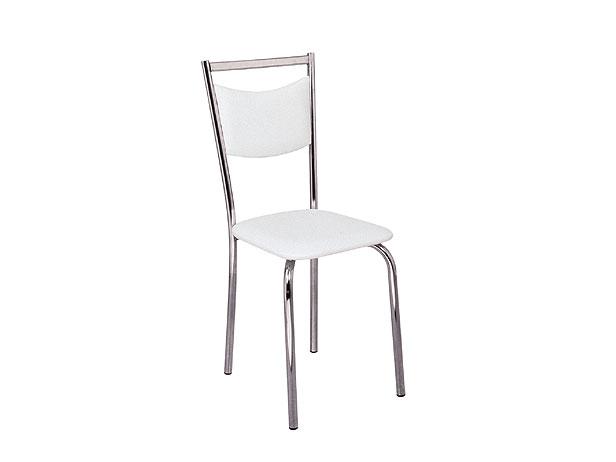 Cadeira de Copa Cromada, Assento Branco, Life