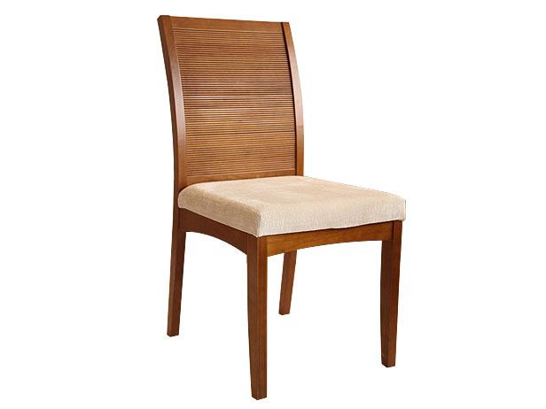 Cadeira Sala de Jantar Imbuia Acetinado Liby