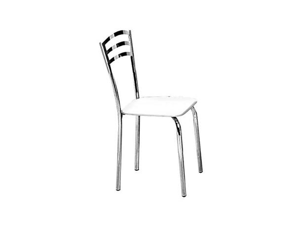 Cadeira de Copa Cromada com Assento Branco, Magnólia