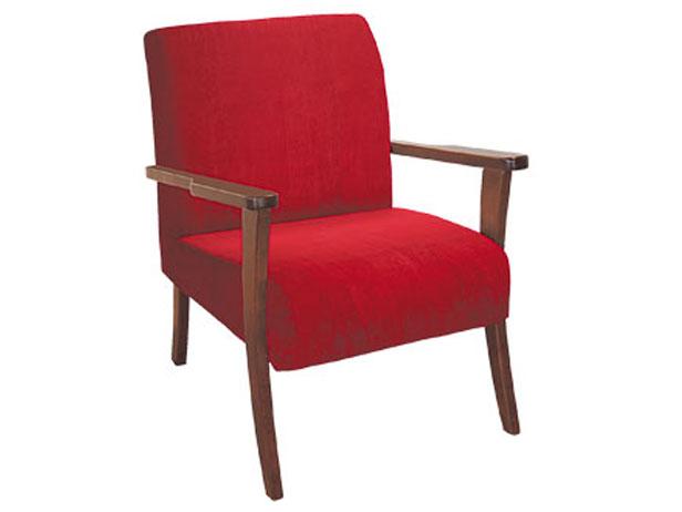 Cadeira Decorativa, Veludo Vermelho, Bristoll